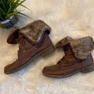 Mossimo Women's Brown Fur Boots size 11